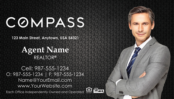 Compass Real Estate Business Cards #001