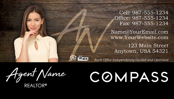 Compass Real Estate Business Cards #002