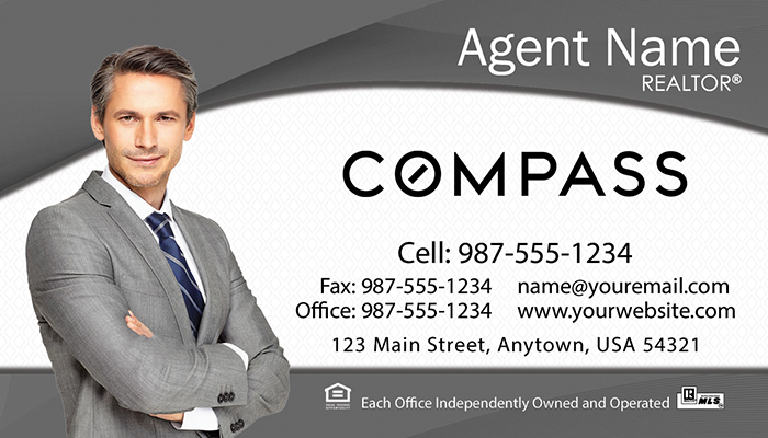 Compass Real Estate Business Cards #003