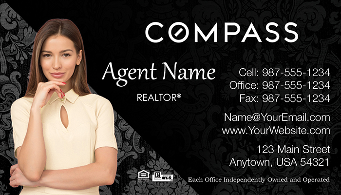 Compass Real Estate Business Cards #004