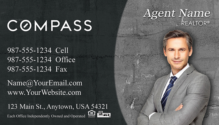 Compass Real Estate Business Cards #005