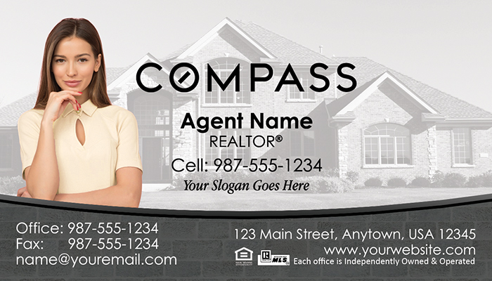 Compass Real Estate Business Cards #006