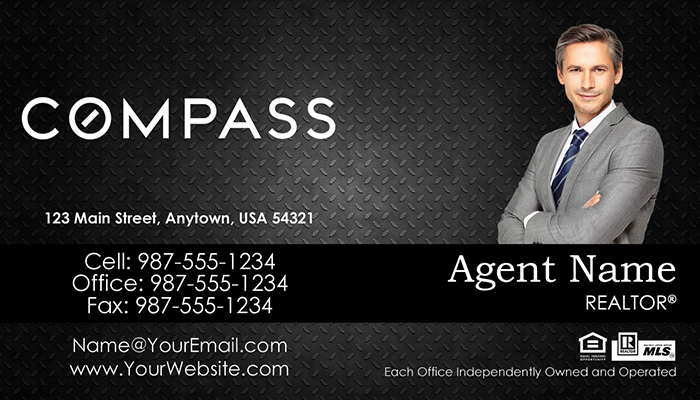 Compass Real Estate Business Cards #007