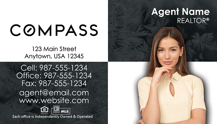 Compass Real Estate Business Cards #008