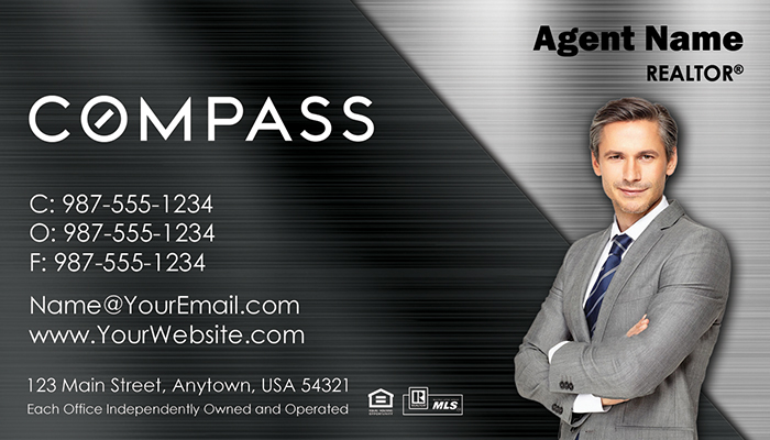 Compass Real Estate Business Cards #009