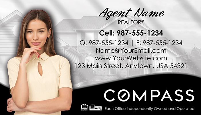 Compass Real Estate Business Cards #010