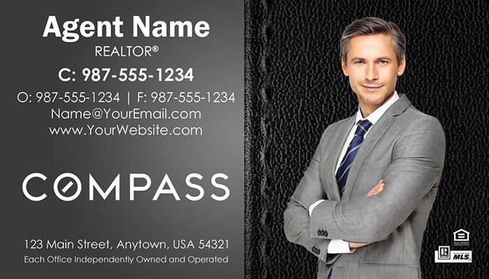Compass Real Estate Business Cards #011