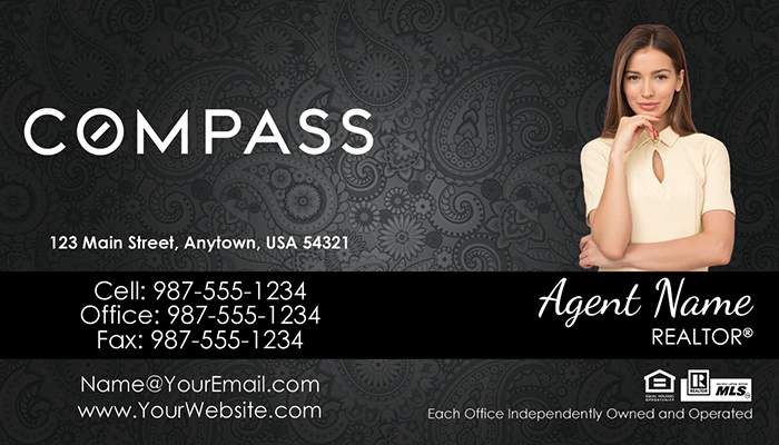 Compass Real Estate Business Cards #012