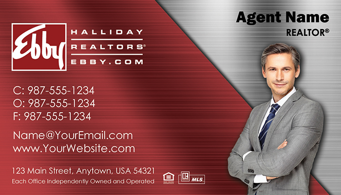Ebby Halliday Business Cards #009