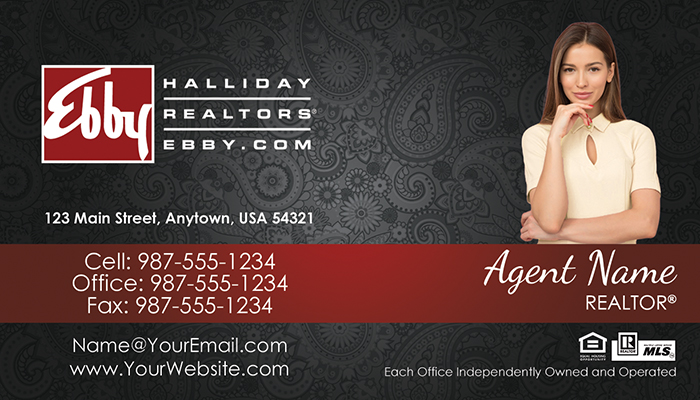 Ebby Halliday Business Cards #012