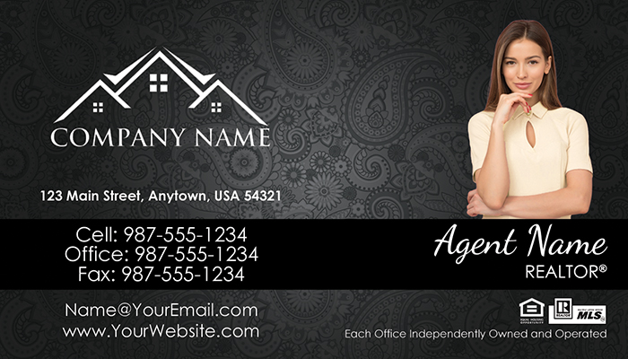 Real Estate Business Cards #012